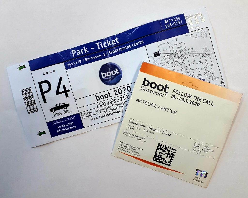 Entrance ticket and parking ticket trade fair