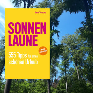 book cover SONNENLAUNE in front of forest